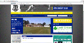 Leek Cricket Club Web Site