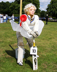 Marilyn Monroe playing for Pirbright CC