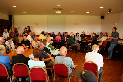 Austin Seven club members in the function room.