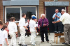 Ken Hampson presenting trophies at the 2003 Junior Finals Day at Rainford CC